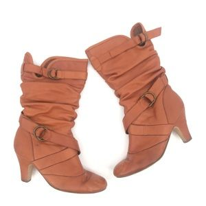 Steve Madden Latchh Cognac Slouch Boots Size 8.5